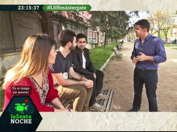 Estudiantes de la URJC, con Jesús Cintora