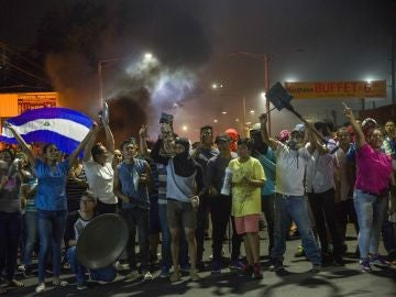 Un grupo de personas se manifiesta en Managua (Nicaragua)