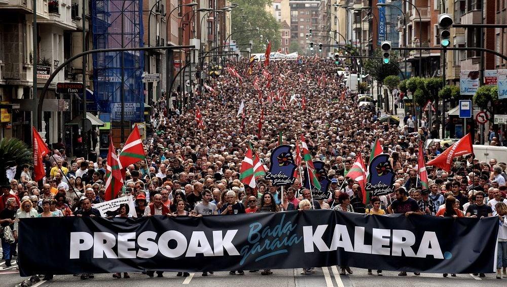 Manifestación en Bilbao por los presos de ETA