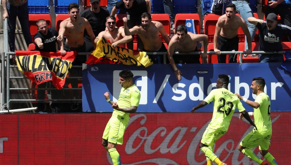 Olivera celebra su gol contra el Eibar