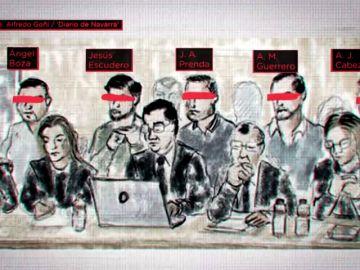De tensos y desafiantes a divertidos y habladores: así vivieron los miembros de 'La Manada' los últimos días del juicio