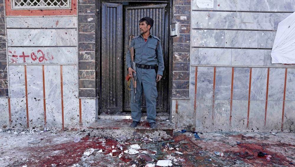 Imagen del atentado suicida en Kabul