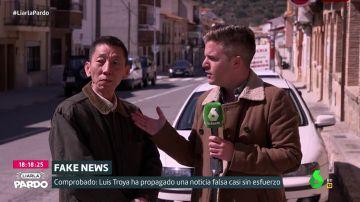 Luis Troya con el falso inversor chino