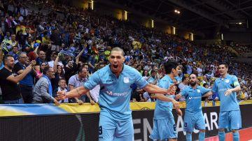 El Inter celebrando el título europeo
