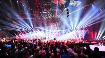 Vista del escenario durante Eurovisión 2018.
