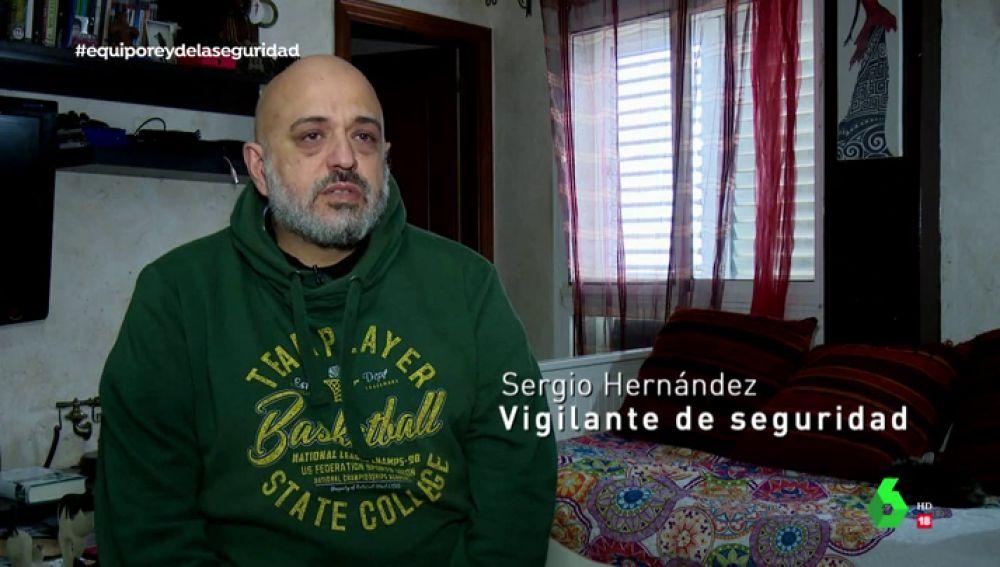 Sergio Hernández, vigilante de seguridad