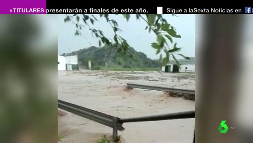 Desbordamiento del río Almargen