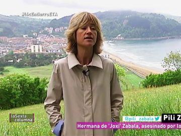 Pilar Zabala, hermana de 'Joxi' Zabala, asesinado por los GAL