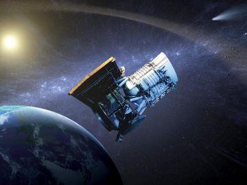 Recreación artística del telescopio NEOWISE