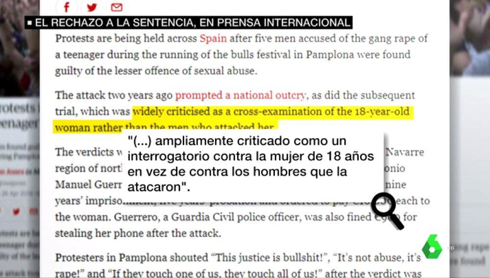 Reportaje de The Guardian sobre 'La Manada'