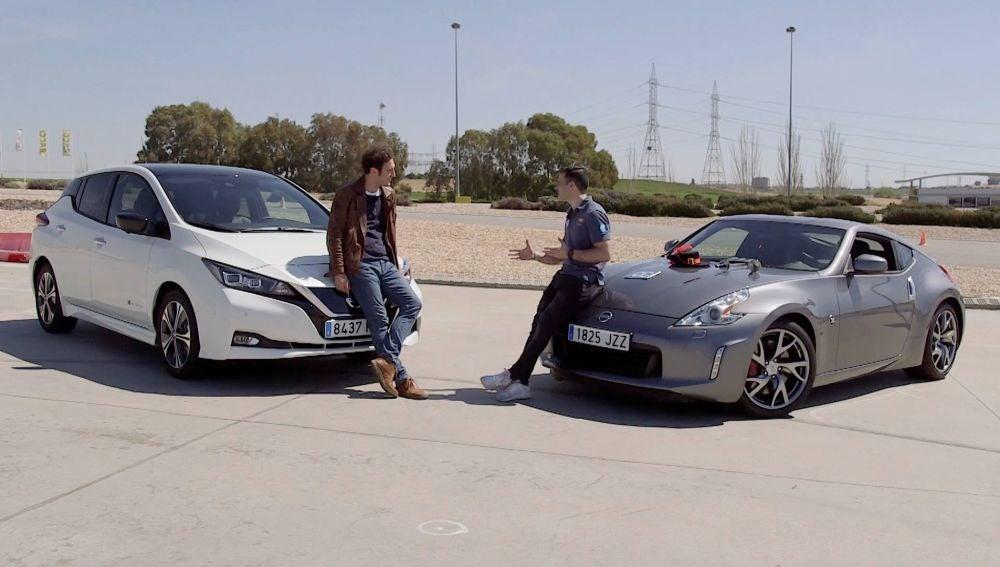 Reto de aceleración eléctrico frente a gasolina: Nissan Leaf 2018 (150CV) vs Nissan 370Z (328CV) - Centímetros Cúbicos