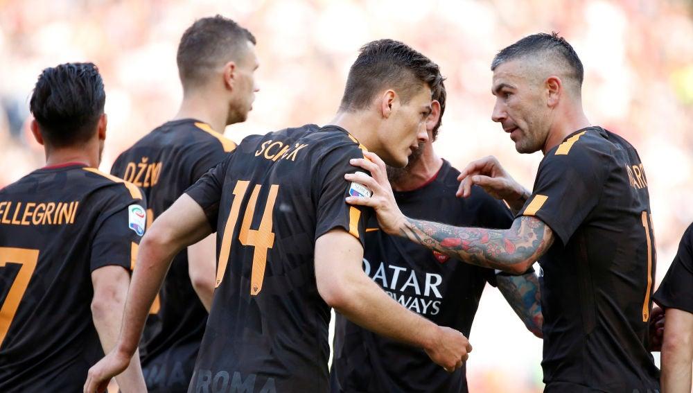 La Roma en la goleada al Chievo