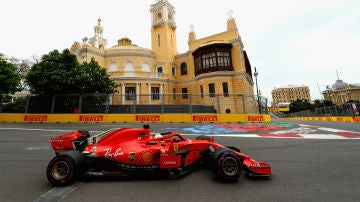 Sebastian Vettel, en Azerbaiyán