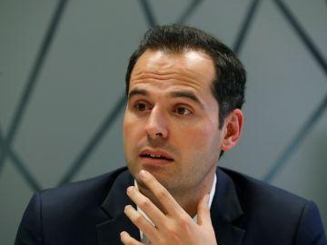 El portavoz de Ciudadanos en la Asamblea de Madrid, Ignacio Aguado, durante una ehtrevista con Efe