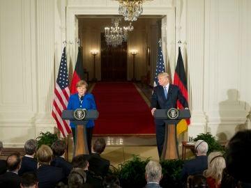 Angela Merkel y Donald Trump