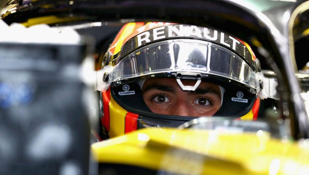 Sainz, a bordo del Renault