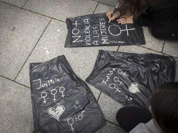Manifestación en Pamplona en protesta por la sentencia a 'La Manada'