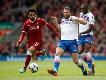 Salah en un partido con el Stoke City
