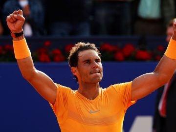 Rafa Nadal celebra su victoria