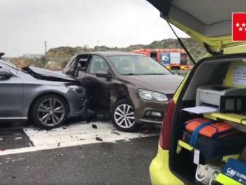 Accidente en cadena en Colmenar