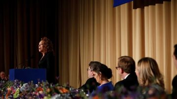 La humorista Michelle Wolf, durante la cena de corresponsales anual de la Casa Blanca