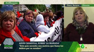 """Asun Casasola, madre de Nagore Laffage: """"A mi hija la mataron por defenderse; a esta niña la violan cinco personas... ¿y dicen que no es violación?"""""""