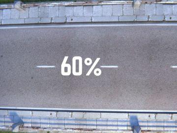 Carretera hecha con el 100% de materiales plásticos