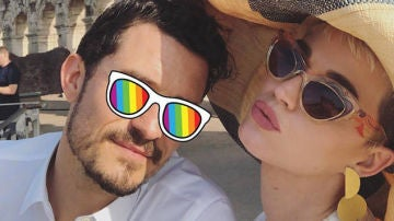 Orlando Bloom y Katy Perry en el Coliseo