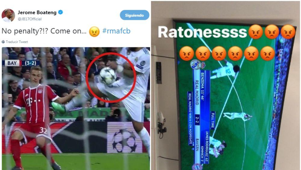 Las quejas de Boateng y Vidal durante el Real Madrid - Bayern