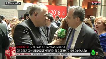 El portavoz del PP en la Asamblea de Madrid, Enrique Ossorio
