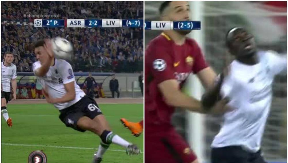 Las acciones polémicas en el Roma - Liverpool