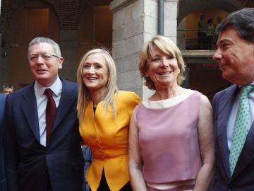 Gallardón, Cifuentes, Esperanza Aguirre e Ignacio González