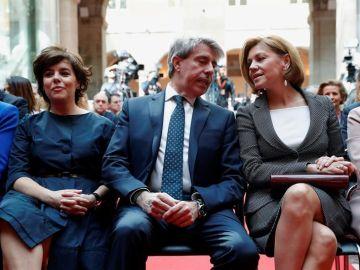 Soraya Sáenz de Santamaría, Ángel Garrido y María Dolores de Cospedal