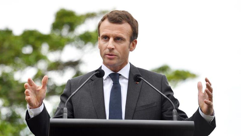 En la imagen el presidente de Francia Emmanuel Macron