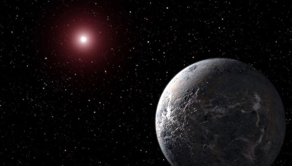 Imagen de archivo de un exoplaneta