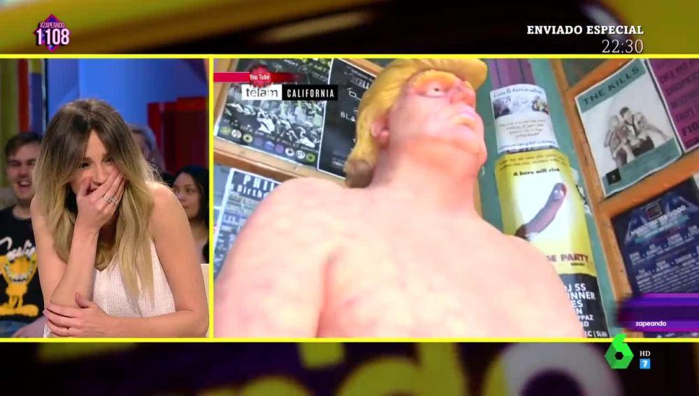 """El lapsus de Anna Simon por las """"pelotas"""" de Donald Trump"""