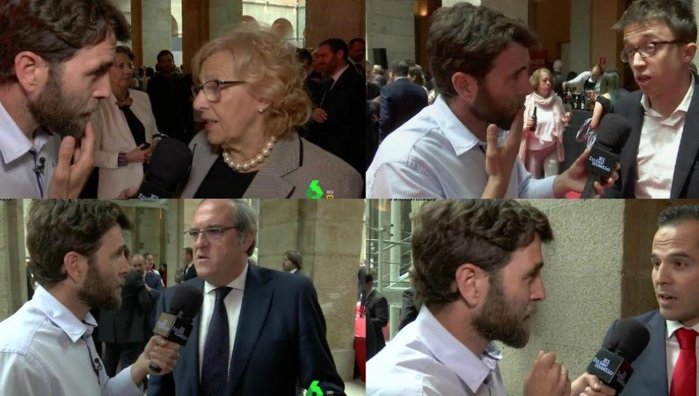 Gonzo habla con los políticos de Madrid