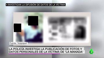 La Policía investiga la publicación de datos personales de la víctima de 'La Manada'