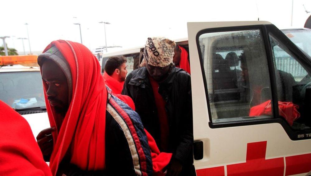 Imagen de archivo de un puesto de la Cruz Roja