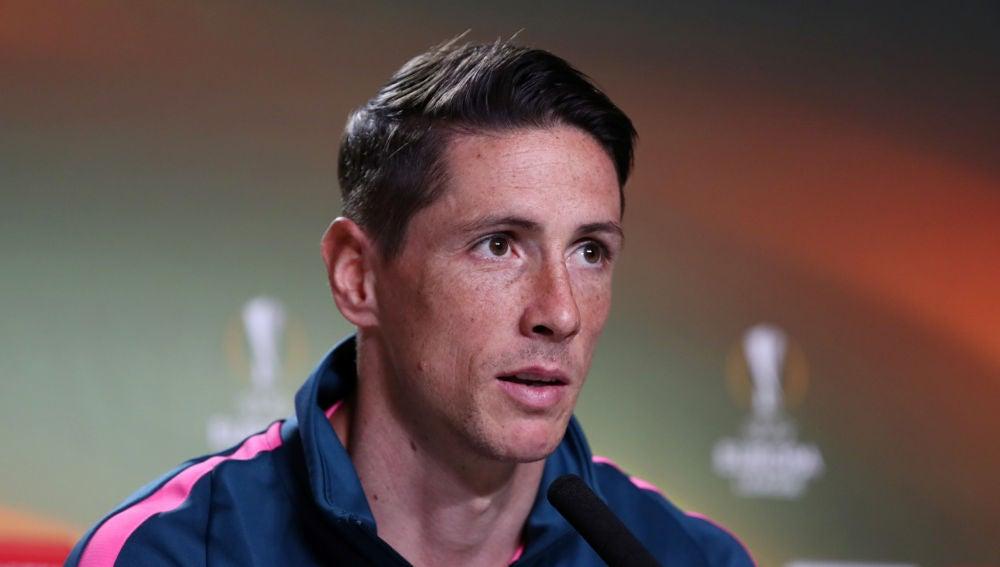 Fernando Torres, en rueda de prensa