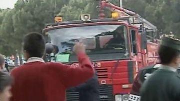 Imagen de archivo de la agresión a los bomberos de Écija