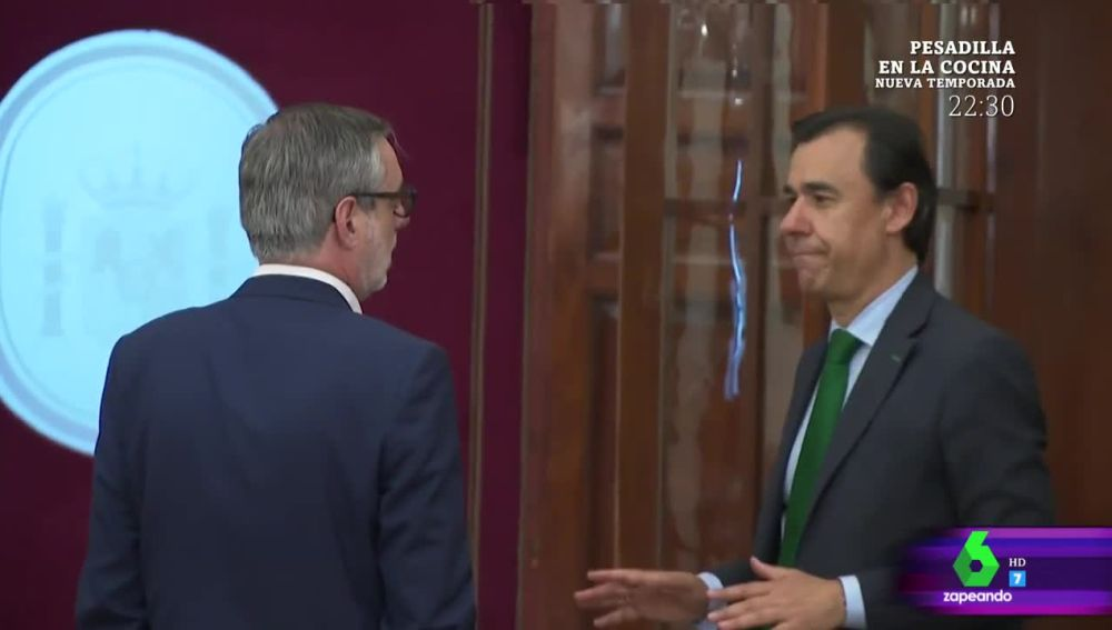 Zapeando desvela la 'verdadera conversación' entre Villegas y Maíllo en los pasillos del Congreso