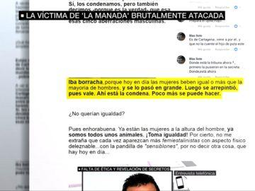 Ataques de La Tribuna de Cartagena a la víctima de 'La Manada'