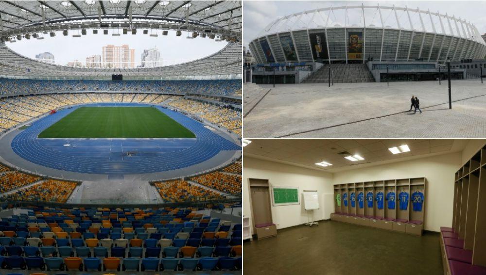 El Estadio Olímpico de Kiev, sede de la final de la Champions 2018