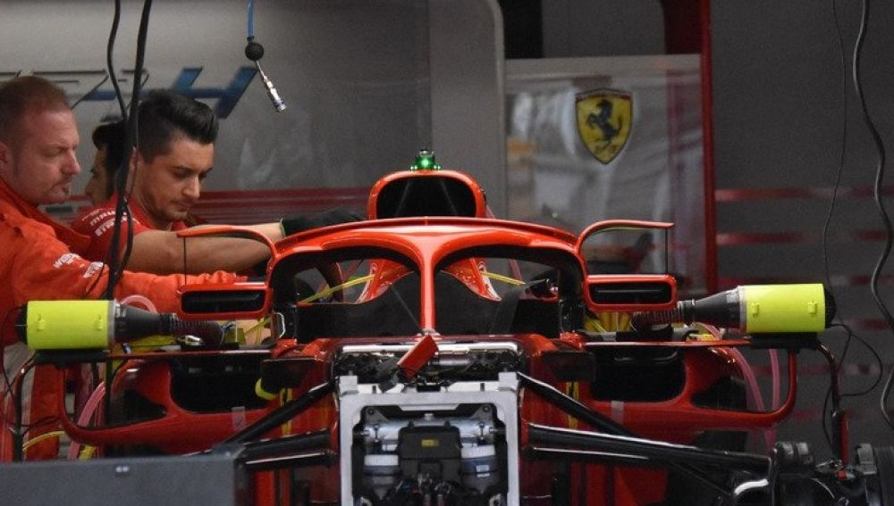 Los retrovisores de Ferrari anclados al Halo