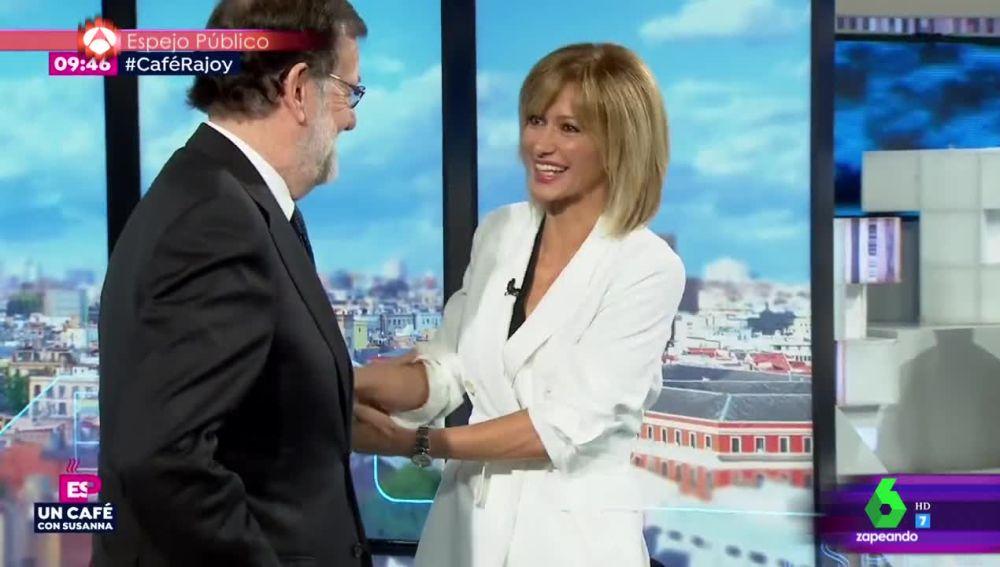 La reacción de Susanna Griso a la inesperada felicitación de Mariano Rajoy por su reciente maternidad