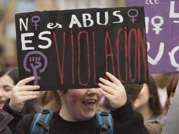 Movilización en Vitoria contra la sentencia de 'La Manada'