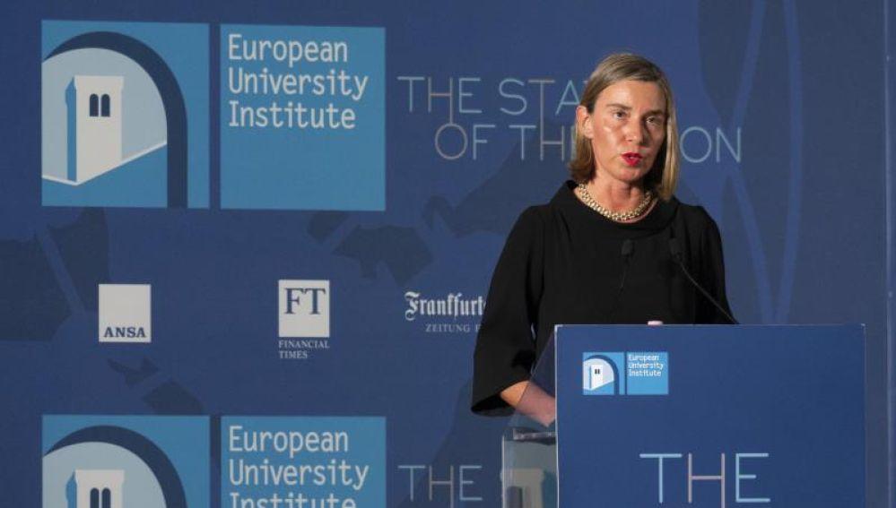 Federica Mogherini,  representante de la Unión para Asuntos Exteriores