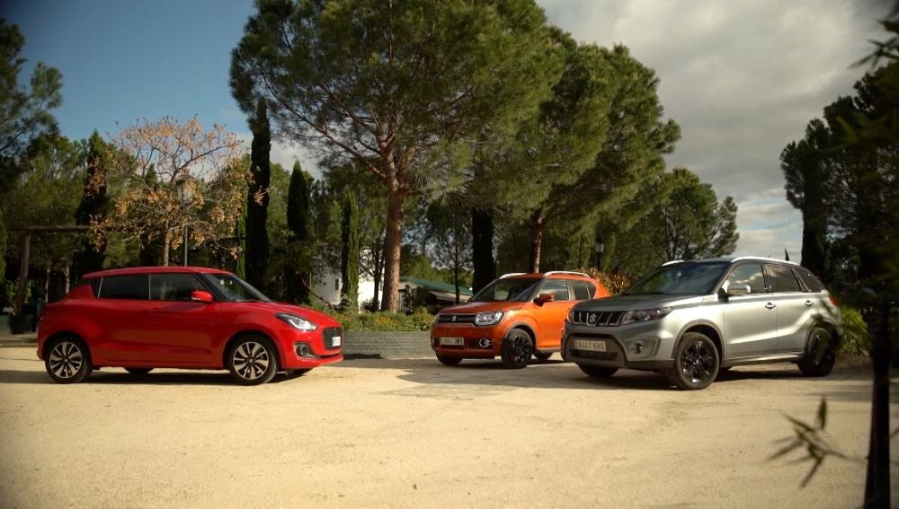 Tres modelos de Suzuki