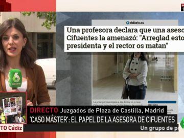 """Una profesora de la URJC afirma que recibió amenazas de una asesora de Cifuentes: """"Arreglad esto o la presidenta y el rector os matan"""""""